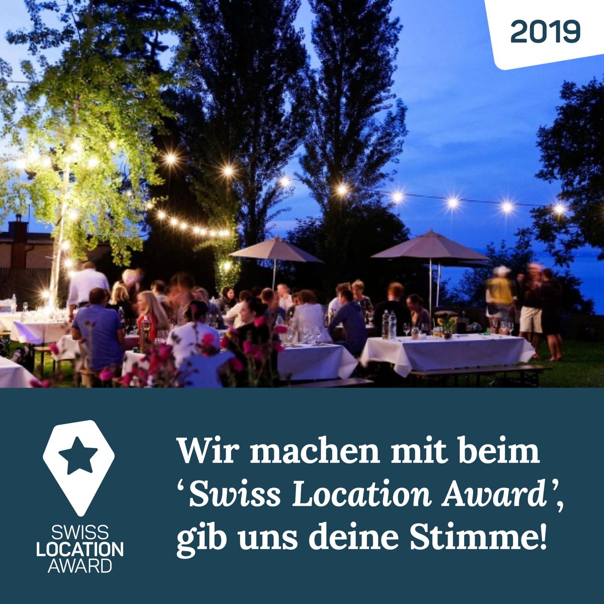 Swiss Location Award, Seerestaurant, Buchhorn, Arbon, Bodensee, Eventlocation, Restaurant, Abstimmung, Voting, Stimme